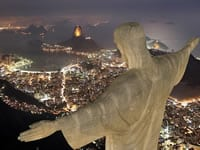 Christ the Redeemer viewed from behind